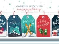 Vagány, csajos, kreatív: ingyenesen letölthető karácsonyi ajándékkísérők